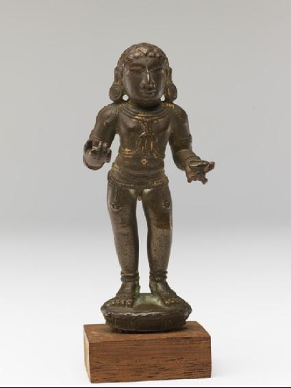 Figure of the saint Manikkavachakarside