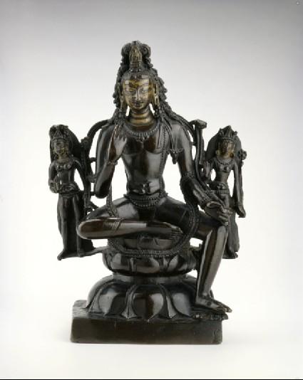 Figure of Padmapani with attendantsfront