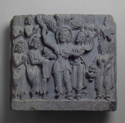 Relief depicting the birth of the Buddhafront