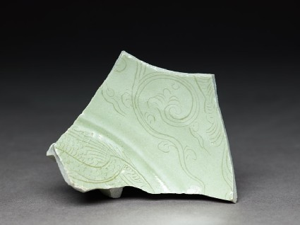 Greenware sherd with tendrilsfront