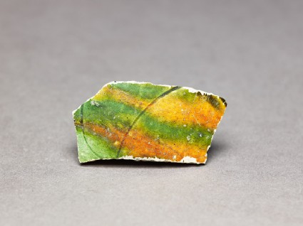 Sherd with three-colour glazefront