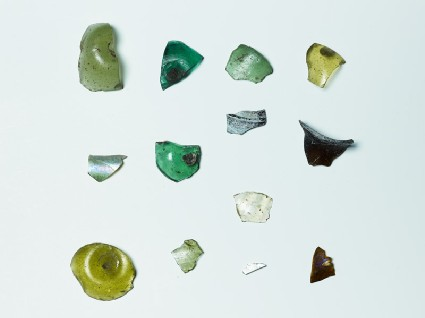 Group of glass sherdsfront