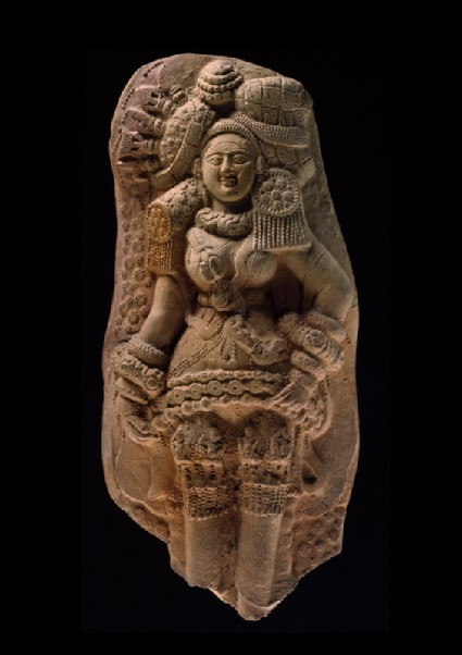 Plaque with yakshi (nature spirit) or mother goddessfront