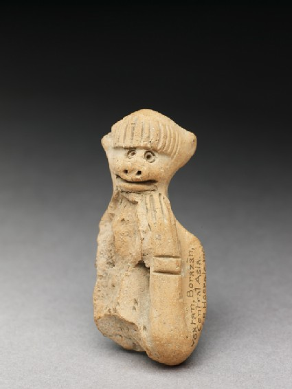 Terracotta figure of a monkeyfront