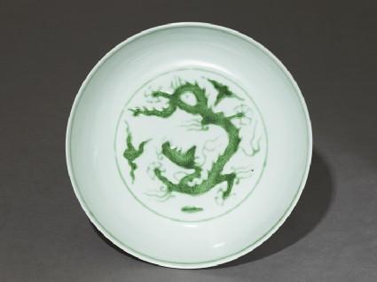Dish with dragontop