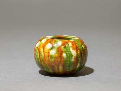 Jar with three-colour glazeoblique
