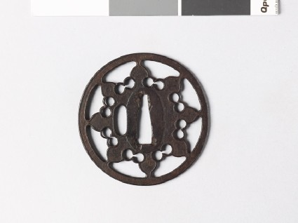Tsuba with eight-petalled flowerfront