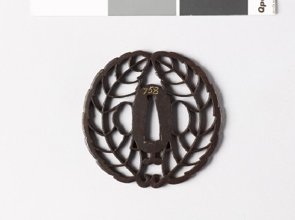 Tsuba with mon crest of the Hachisuka familyfront