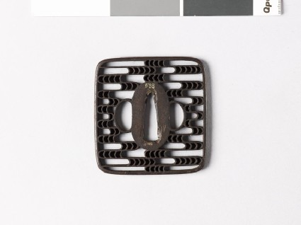 Square tsuba with cloud-formsfront