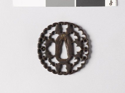 Tsuba with myōga, or ginger shoots, and four karigane, or flying geesefront