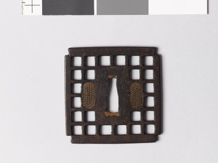 Tsuba with chequer patternfront