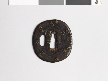 Tsuba with scattered plum-blossomsfront