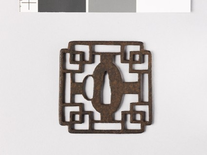 Tsuba with overlapping squaresfront