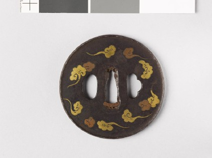 Round tsuba with cloudsfront