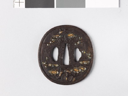 Tsuba with blossoming plum treefront