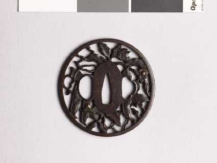 Tsuba with bean vine and ladybirdfront