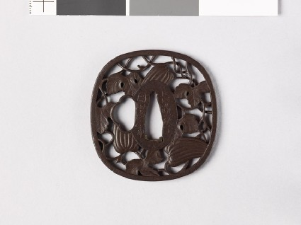 Tsuba with gourd vinefront