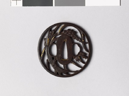 Tsuba with a bundle of ricefront