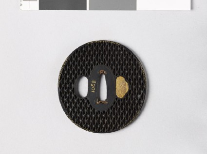 Tsuba with ajiro, or netting patternfront