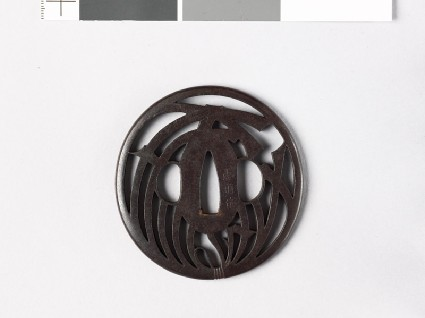Tsuba with noshi, or auspicious abalonefront