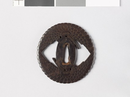 Tsuba with two cranesfront