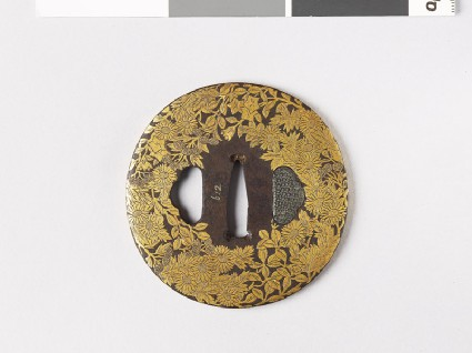 Tsuba with asters, lespedeza, and gentianfront