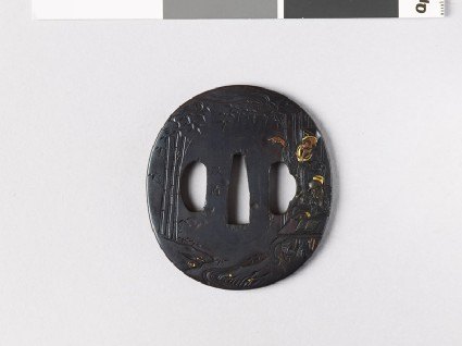 Tsuba depicting two of the Seven Sages of the Bamboo Grovefront