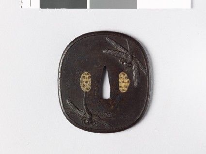 Tsuba with dragonfliesfront