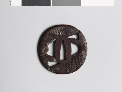 Tsuba in the form of two carpfront