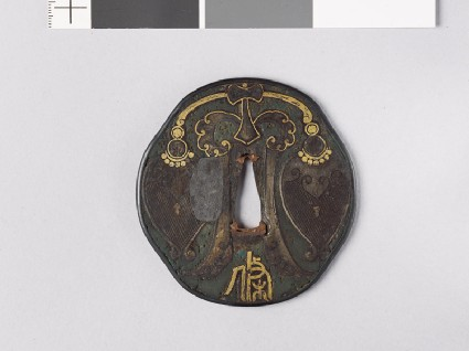 Octagonal tsuba with Chinese pendentfront