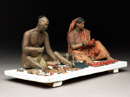 Model depicting cobblers at workside