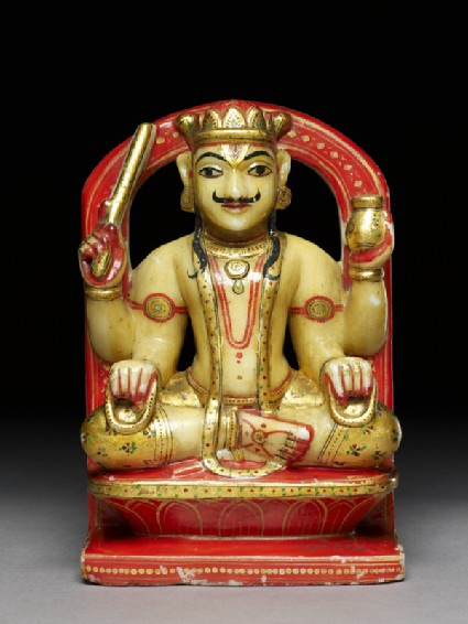 Soapstone figure of Brihaspati, or Jupiterfront