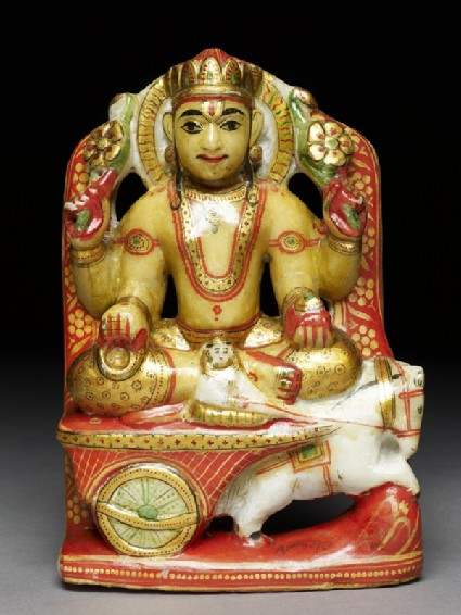 Soapstone figure of Aditya, or Sunfront