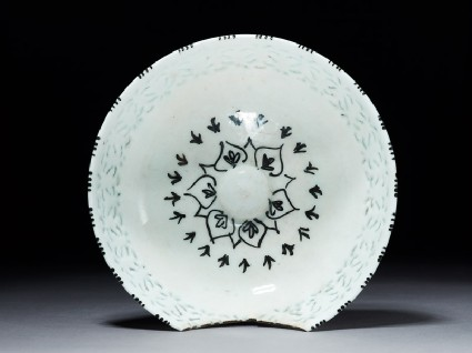 Bowl with pierced decorationtop