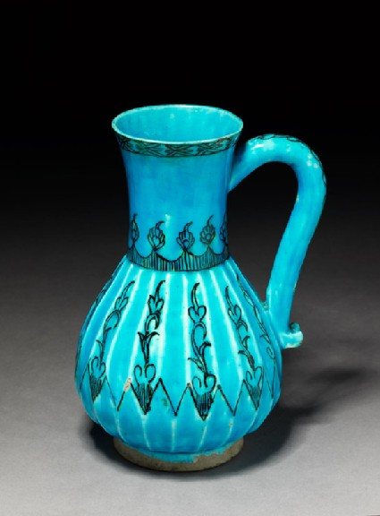 Jug with vegetal decorationoblique