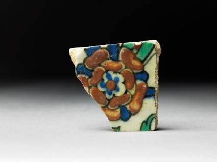 Tile fragment with flowertop