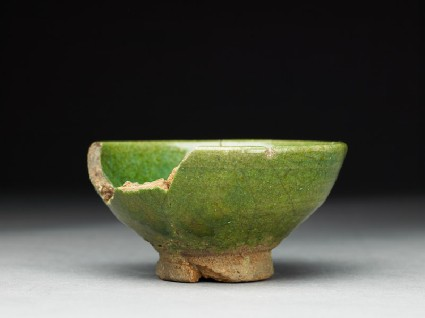 Bowl with green glazeside