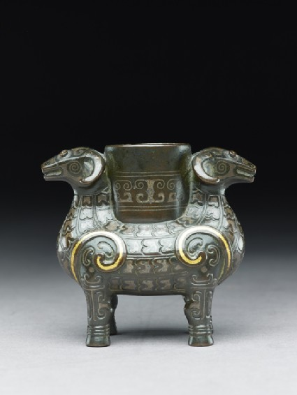 Vessel in the form of two ramsside
