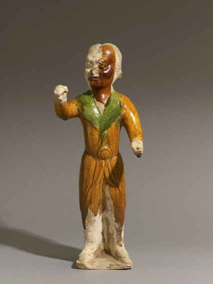 Earthenware figure of a groomfront