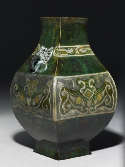 Vase in the form of an ancient ritual vesselside