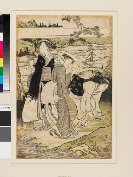 Three women by the Jewel River of Takanofront