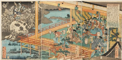 The ghosts of the Minamoto appearing in Fukuhara Palacefront