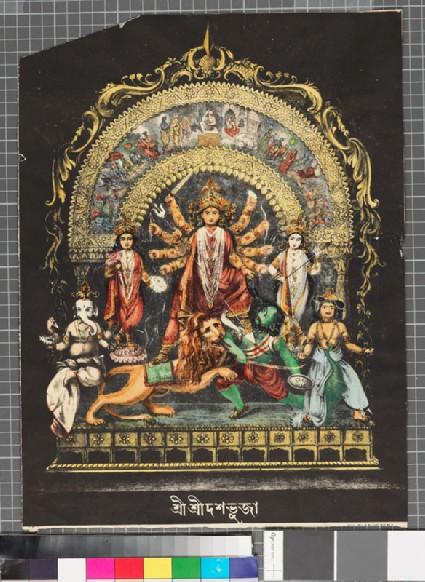 Durga as Mahishasuramardinifront