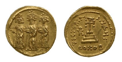 Byzantine coinfront and back