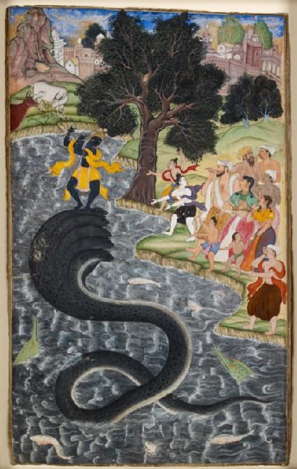 Krishna dancing on the head of Kaliyafront