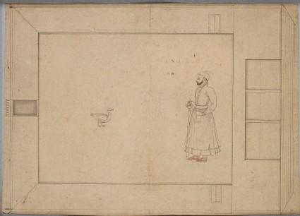 Maharaja Balwant Singh and a goosefront