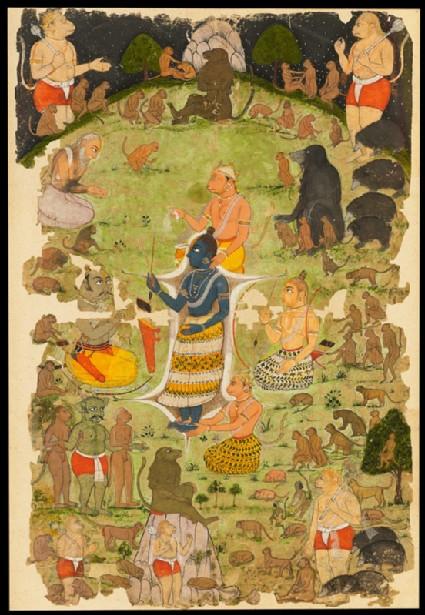 Vibhishana in the camp of Ramafront