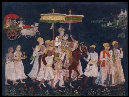 Wedding procession of Muhammad Quli Qutub Shahfront