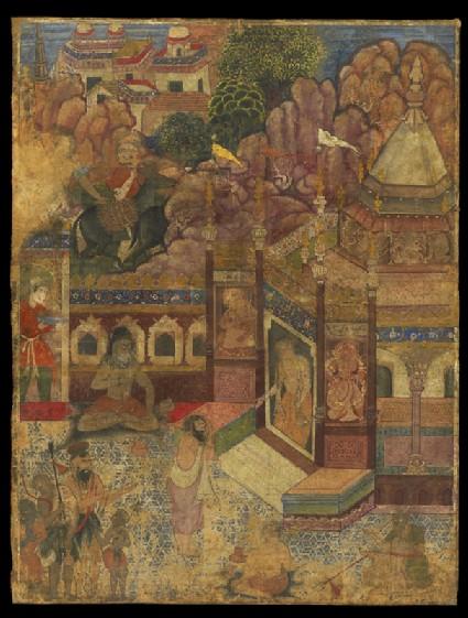 A supplicant at a Hindu templefront