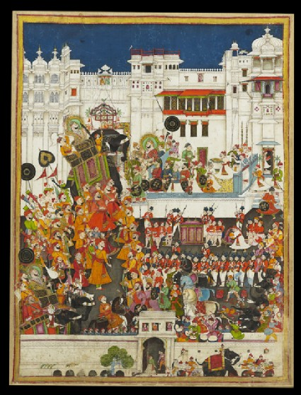 Maharao Ram Singh II's marriage celebrations at Udaipurfront